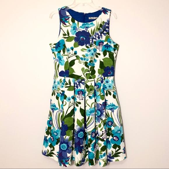 Eliza J Dresses & Skirts - Eliza J Floral Fit and Flare Dress Size 14